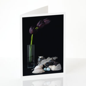 Still Life with Black Tulips card