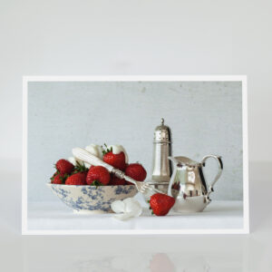 Still Life with Strawberries and Cream card