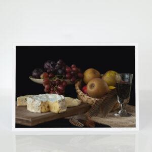 Still Life iwth Suffolk Cheeses card