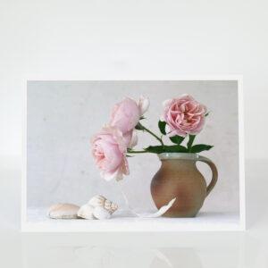 Blush Roses in a Jug card