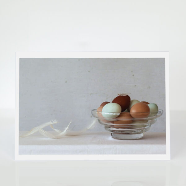 Bowl of eggs card