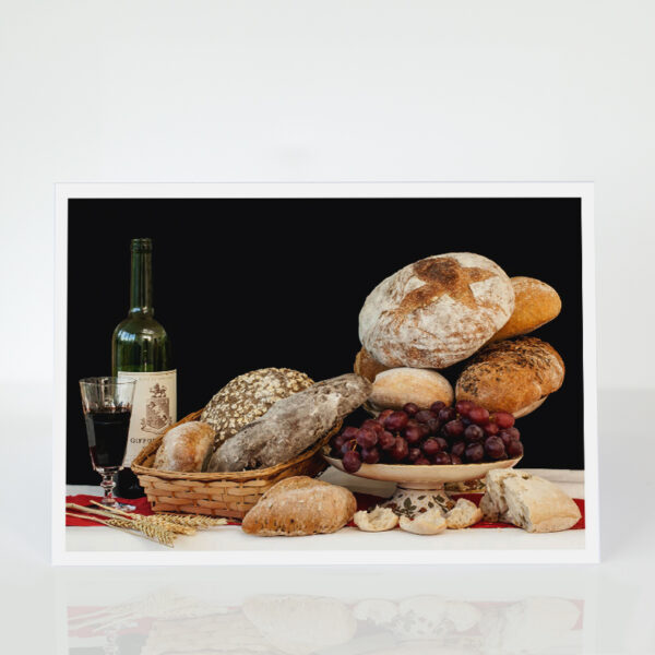 Still Life with bread and wine card