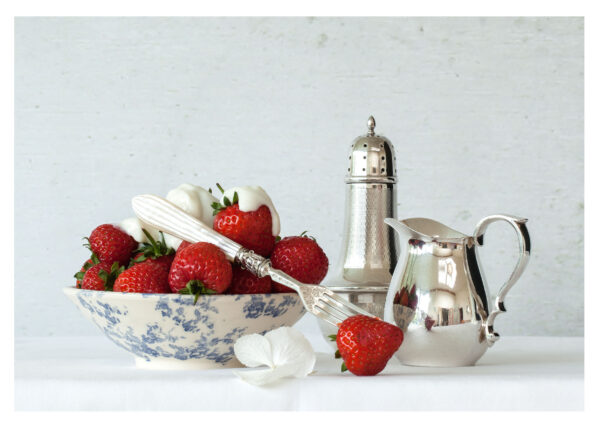 Still Life with Strawberries and Cream