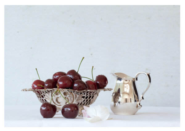 Still Life with Cherries and Cream