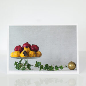 Christmas Still Life with Pomegranates & Quinces card