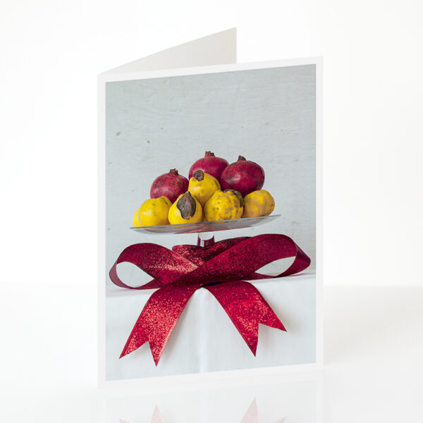 Pommegranates and Quinces with Love card