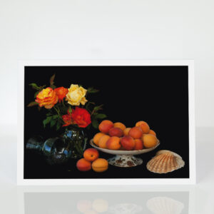 Still LIfe with apricots card