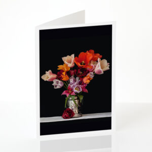 Tulips with a Bee card